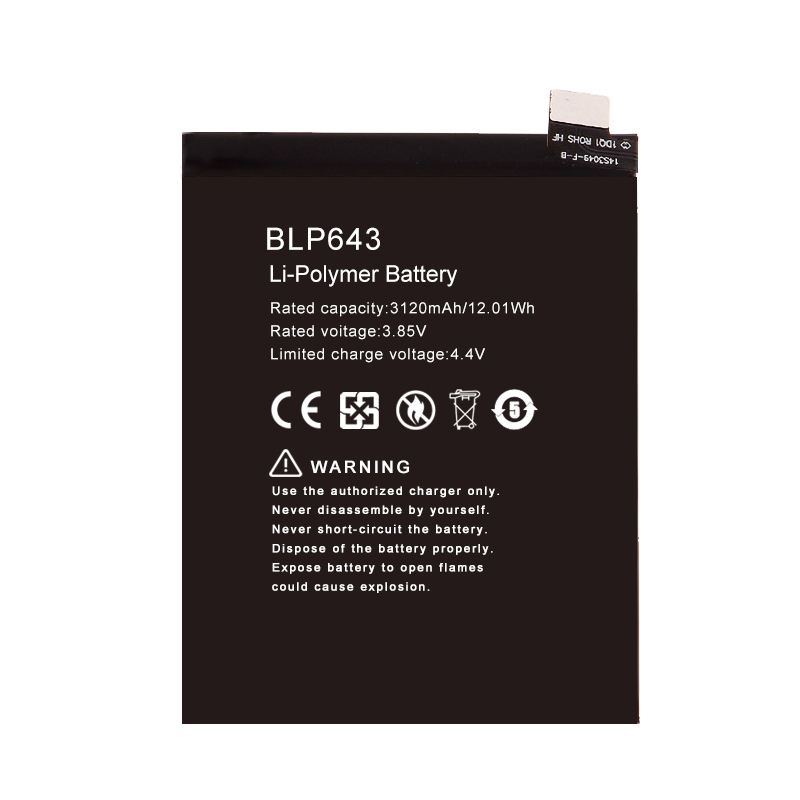 Hot-selling rechargeable BLP643 battery for R11s wholesale factory price